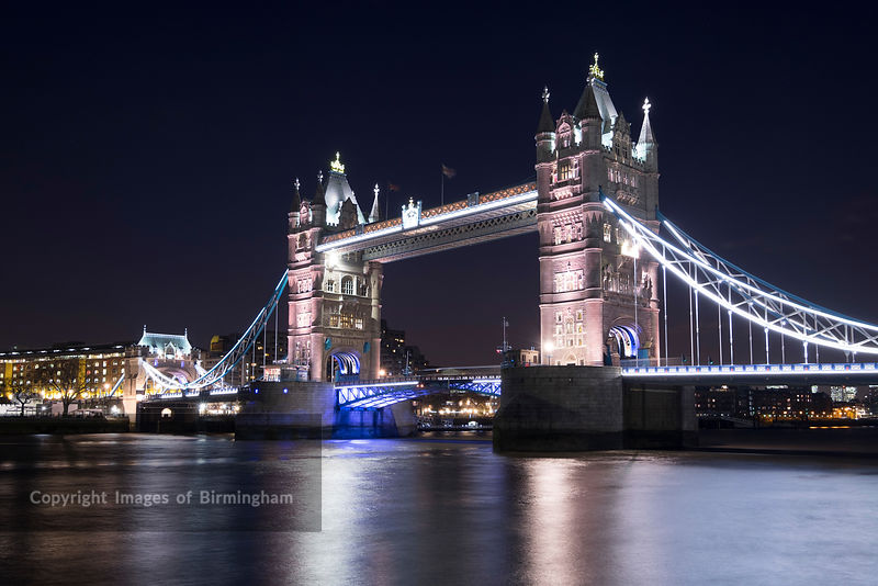 Tower Bridge, crossing the River Thames, the traditional symbol of London, England