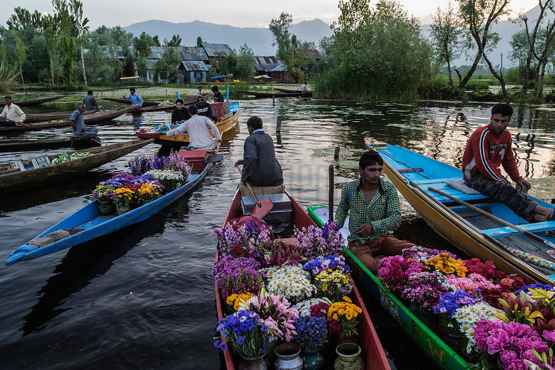 Flower Sellers on Dal Lake