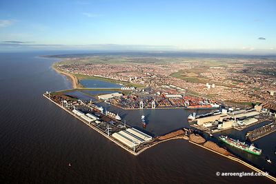 aerial photograph of Royal Seaforth Dock Liverpool