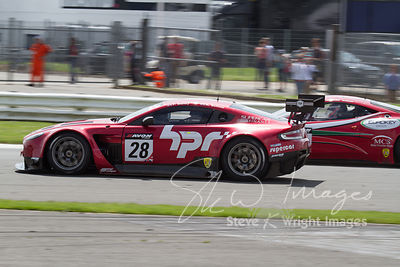 Horsepower Racing's Aston Martin Vantage GT3 in action at the Silverstone 500 - the third round of the British GT Championshi...