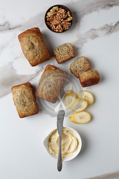 Mini Loaves of banana bread