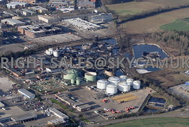 Buncefield Oil Depot Hemel Hempsted Hertfordshire after the fire devastated the fuel depot in 2005