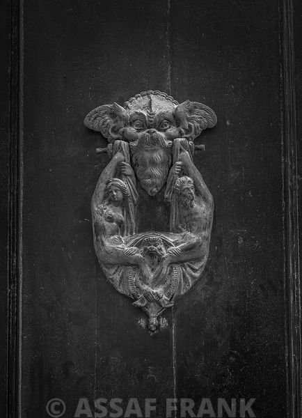 Old fashioned door knocker, Mdina, Malta