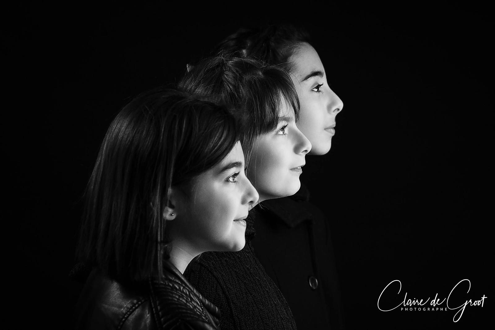 Studio Portrait of 3 sisters