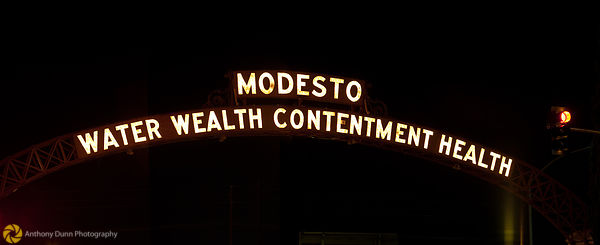 The Modesto Arch at Night #2