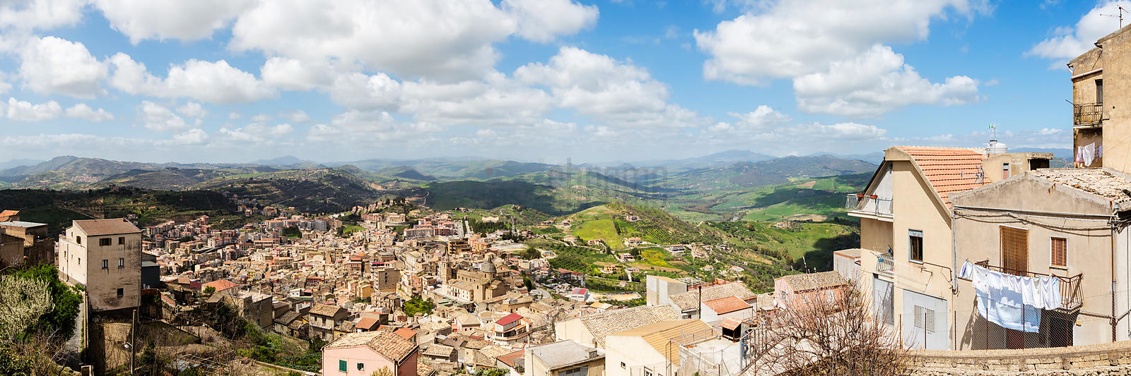 Skyline of Sicilian Hill Town