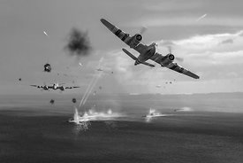 Beaufighters attacking E-boats black and white version