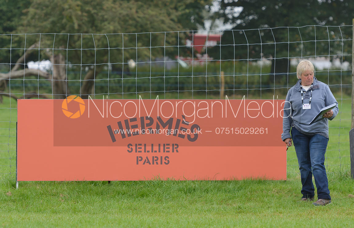 FEI Steward Nicky Kelly - cross country phase,  Land Rover Burghley Horse Trials, 6th September 2014.