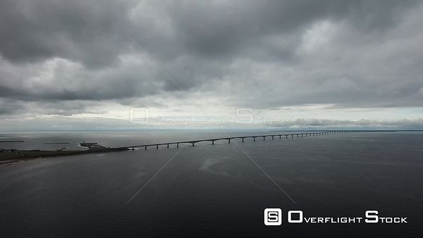 Prince Edward Island Canada Confederation Bridge summer clouds