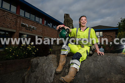 16th July, 2013.Miners Arlene Johnston and Ciara Tinnelly photographed at Boliden Tara Mines, Knockumber, Navan, County Meath...