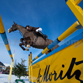 Winner Evelyne Bussmann at Concours Hippique St.Moritz Engadinermeisterschaft 2010