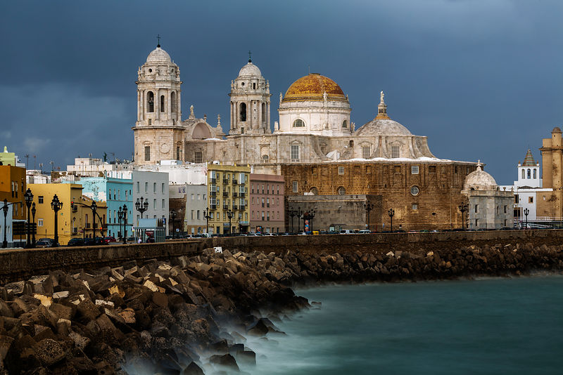 Skyline of Cadiz from the Sea Wall