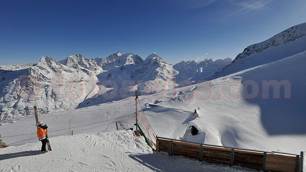 Corvatsch Resort in Winter Season