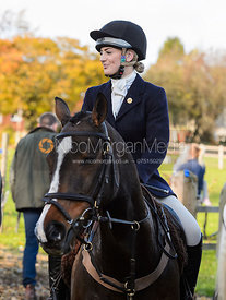 Abbie Weatherstone at the meet. The Cottesmore Hunt at Tilton