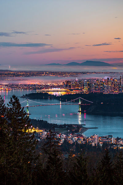 Vancouver Cityscape, Evening Glow