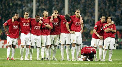 Manchester United at the 2007/08 UEFA Champions League Final