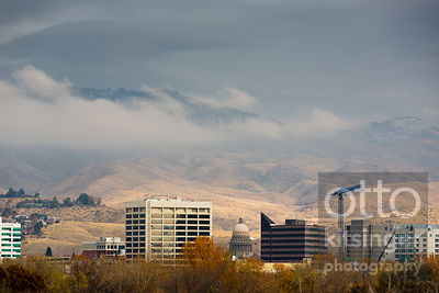 Clouds over Downtown Boise
