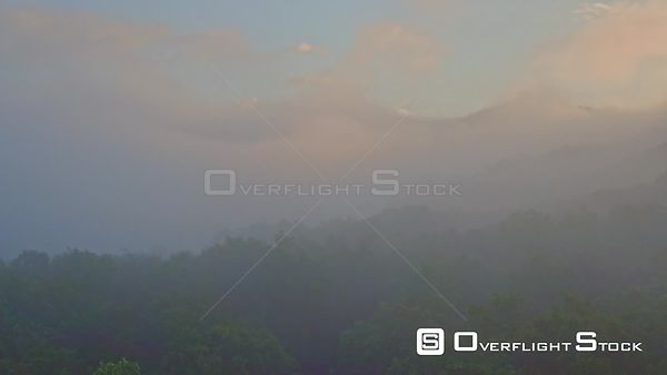 Fog Shrouded Blue Ridge Mountains Georgia