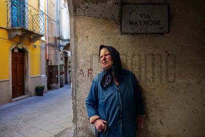 Portrait of an Elderly Woman in Novara di Cicilia