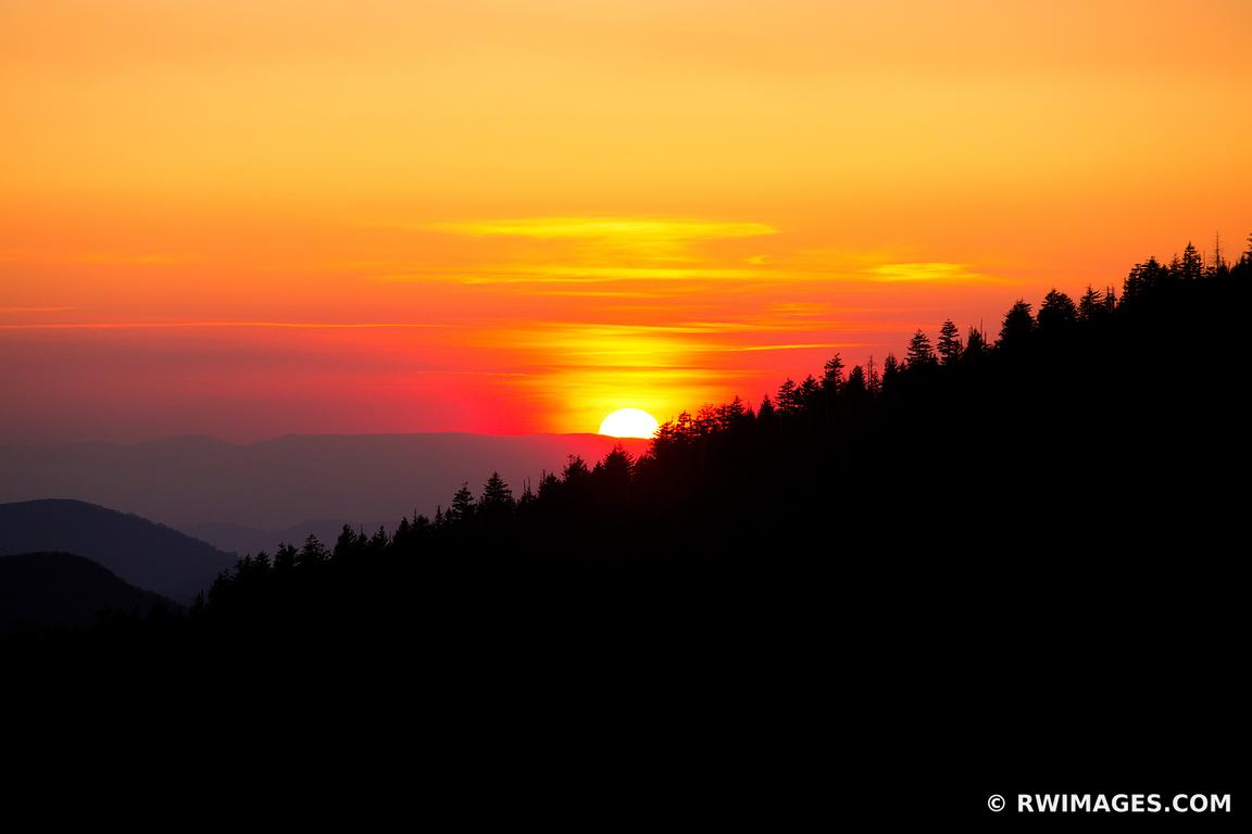SMOKY MOUNTAINS SUNSET FROM CLINGMANS DOME COLOR