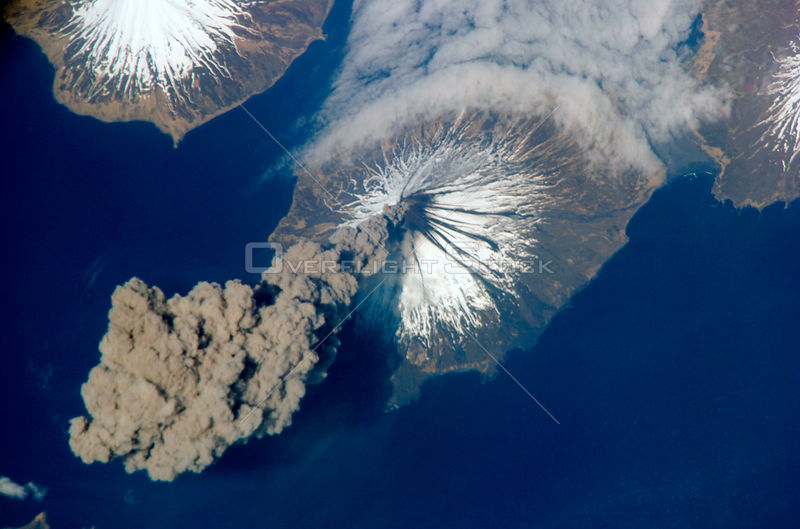EARTH Alaska, Aleutian Islands -- 23 May 2006 -- Eruption of Cleveland Volcano, Aleutian Islands, Alaska is featured in this ...