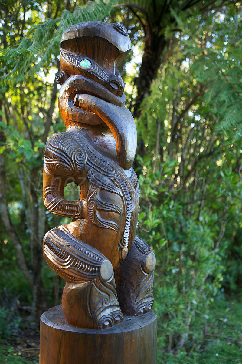 Maohi sculpture New-Zealand