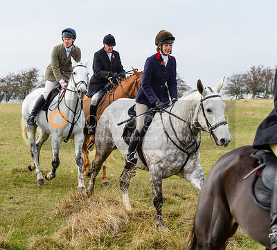 Ida Thore above Braunston. The Cottesmore Hunt at Braunston