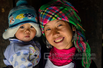 Black Hmong Woman and Baby