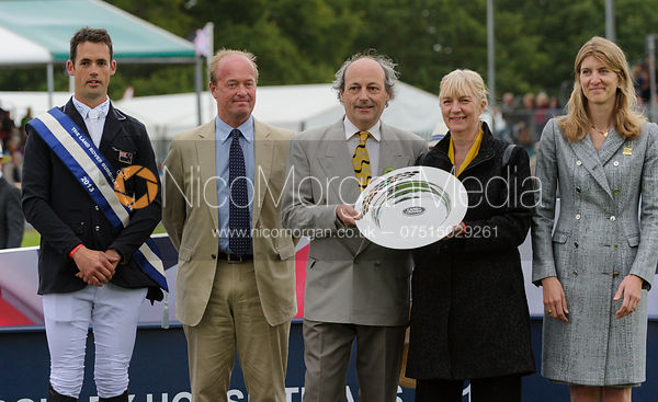 Jonathan Paget, Jeremy Hicks, Russell Hall, Frances Stead and Miranda Rock - Burghley Horse Trials 2013.