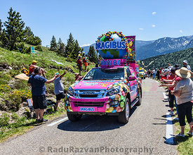Haribo Car in Pyrenees Mountains