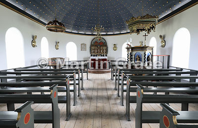 Interior of Thingeyrar Church, Road 721, off Road 1, by Hóp (lake), Nordurland Vestra, Iceland