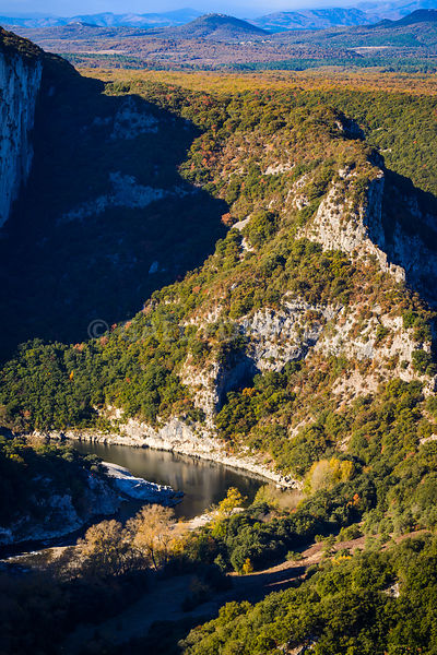 Landscape of Gorges de l'Ardeche in France