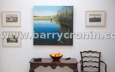 13th November, 2014.Artist Martin Gale's piece 'Floodland' at his studio outside Ballymore-Eustavce, County Kildare.Photo:Bar...