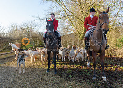 Andrew Osborne, Chris Edwards at the meet - The Cottesmore at Town Park Farm