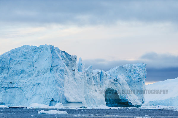 Large iceberg in the Ilulissat Icefjord in Greenland
