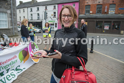 NO REPRO FEES - 14th May, 2018. Pictured at Market House, Mullingar is Claire Murray from Rhode, Westmeath after picking up s...