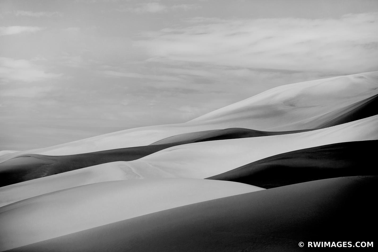 NATURE ABSTRACT GREAT SAND DUNES NATIONAL PARK COLORADO BLACK AND WHITE