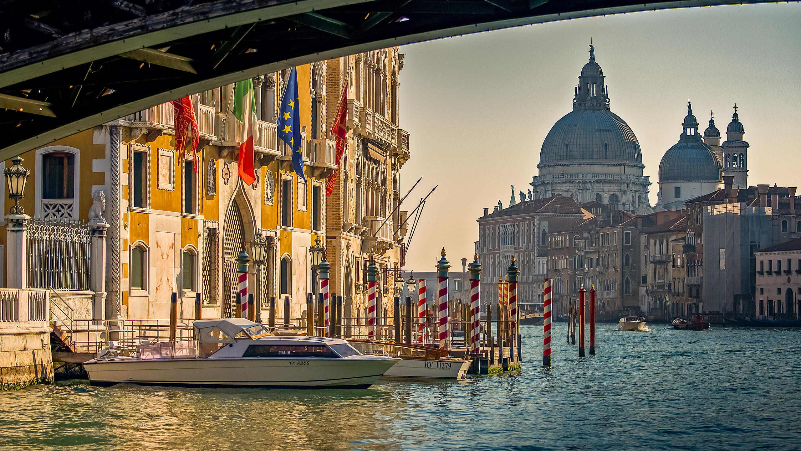 View of Santa Maria della Salute under the Accademia Bridge, Venice