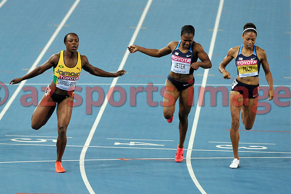 Veronica Cambell-Brown from Jamaica wins the 200m 22.22sec.