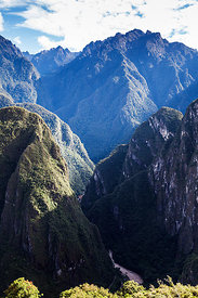 Sacred Valley from Machu Picchu, Inca Trail, Peru. December 2013.