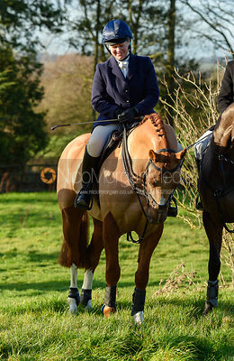 Emilie Chandler At the meet. The Belvoir Hunt meet at Waltham House 22/12