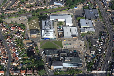 aerial photograph of the College of West Anglia, King's Lynn