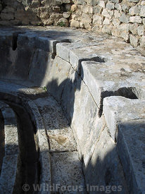 The latrines of the Baths of the Cyclops in Dougga; Tunisia; Portrait