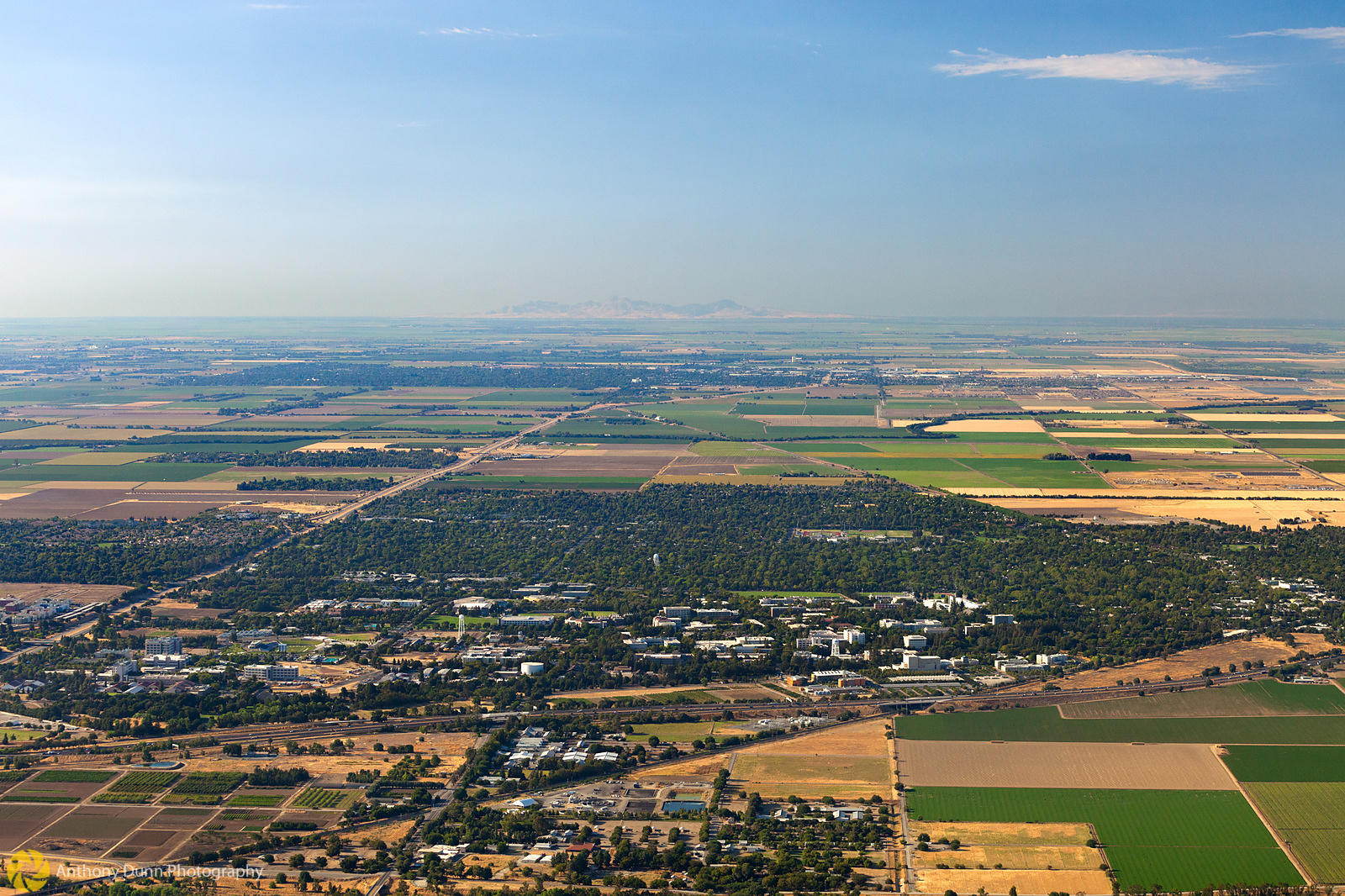 Aerial View of the City of Davis
