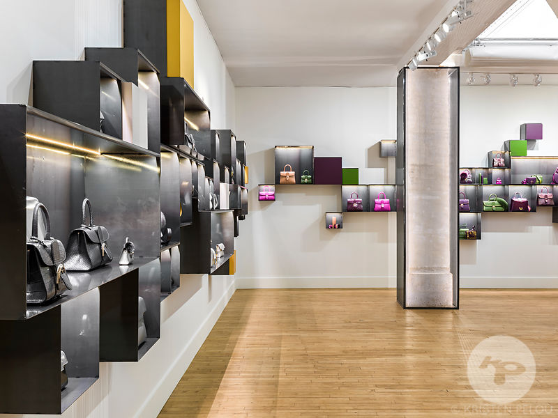Retail architecture photographer - Delvaux Showroom, Paris, France.