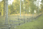 Traditional wood fence