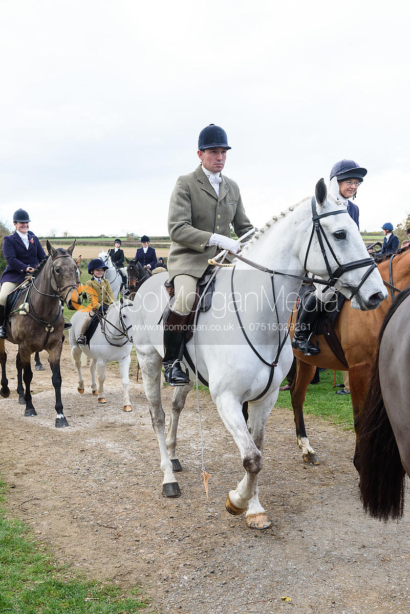 Rowan Cope leaving the meet. Quorn Hunt Opening Meet 2018