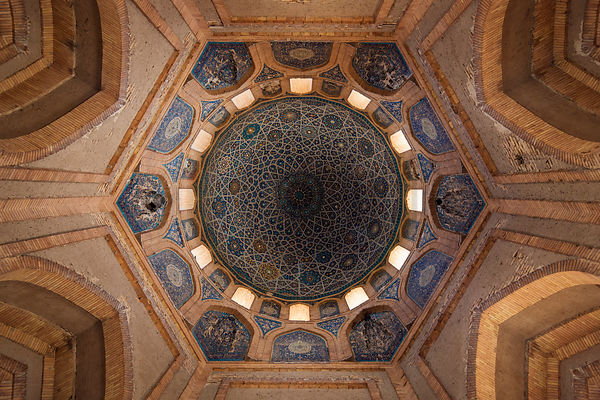 Interior of the Dome of the Mausoleum of Turabeg Khanum