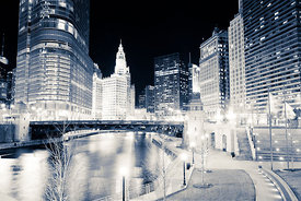 Chicago River at Wabash Avenue Bridge