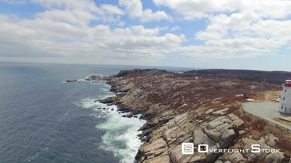 Nova Scotia Canada Lighthouse Rocks Coastal Waves Duncans Cove
